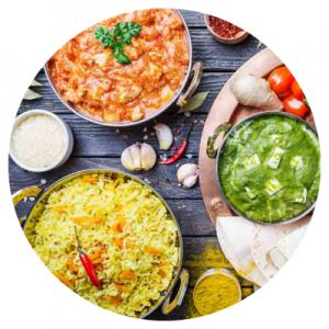 Het eten op Sri Lanka bestaat veelal uit kleurrijke curry's